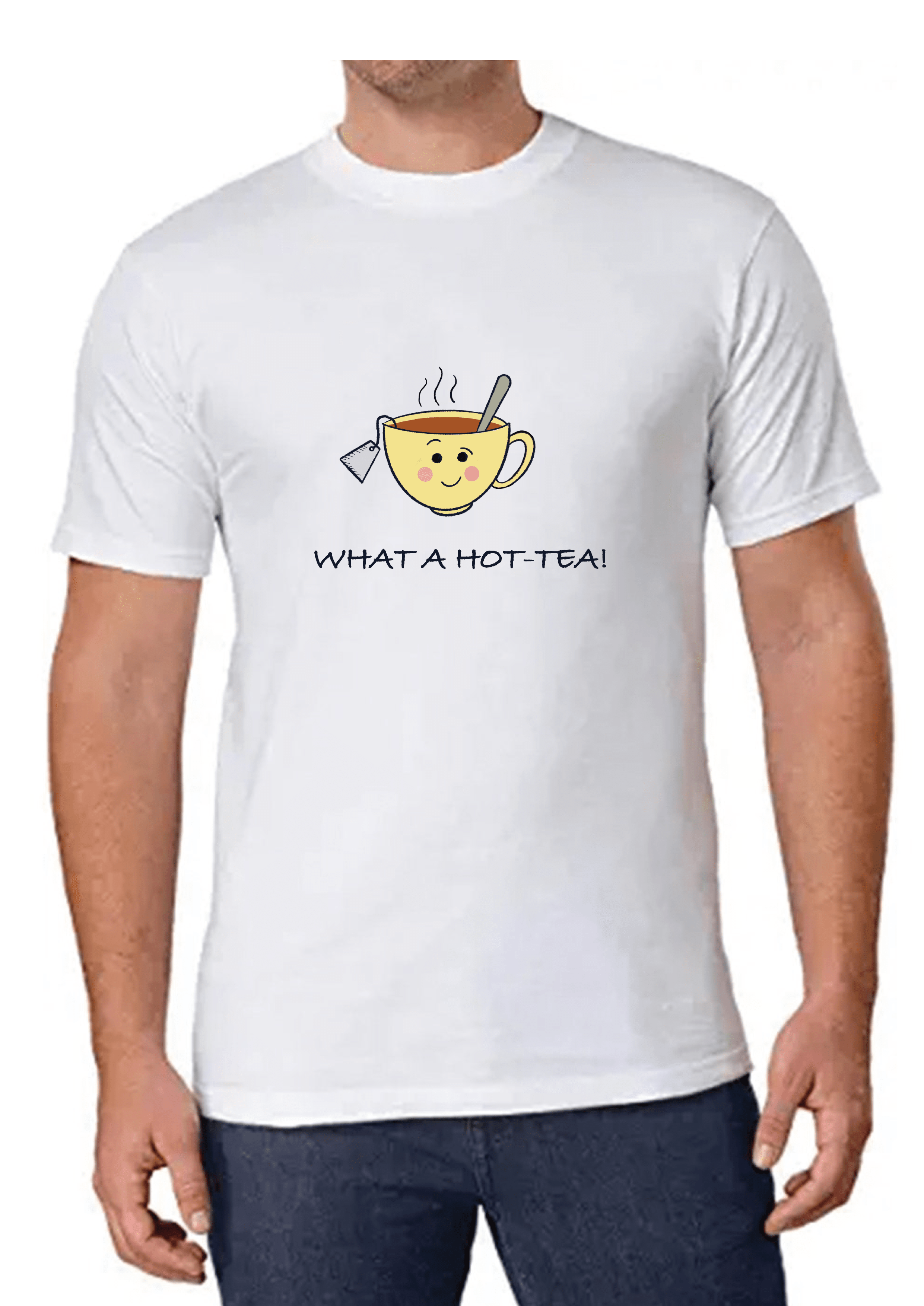 What a Hot- Tea Men's T-shirt Slider Thumbnail 1/4