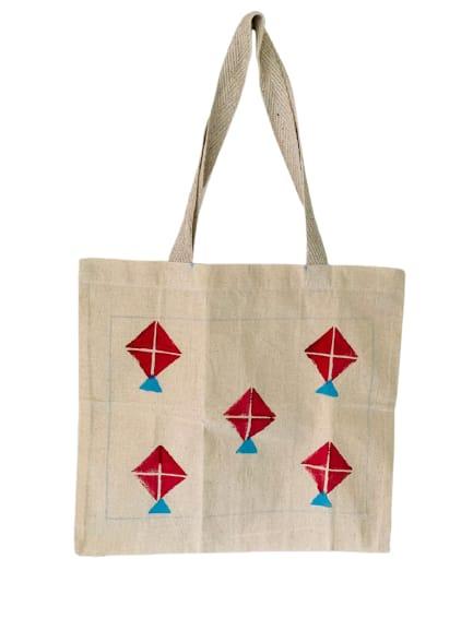 Kora Tote Bag with Red Kites Slider Thumbnail 1/5