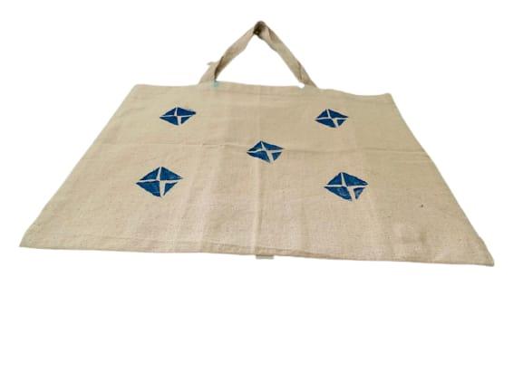 Kora Tote Bag with Blue Kites Slider Thumbnail 2/5