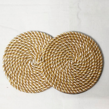Golden Cord Coasters (Set of 6)