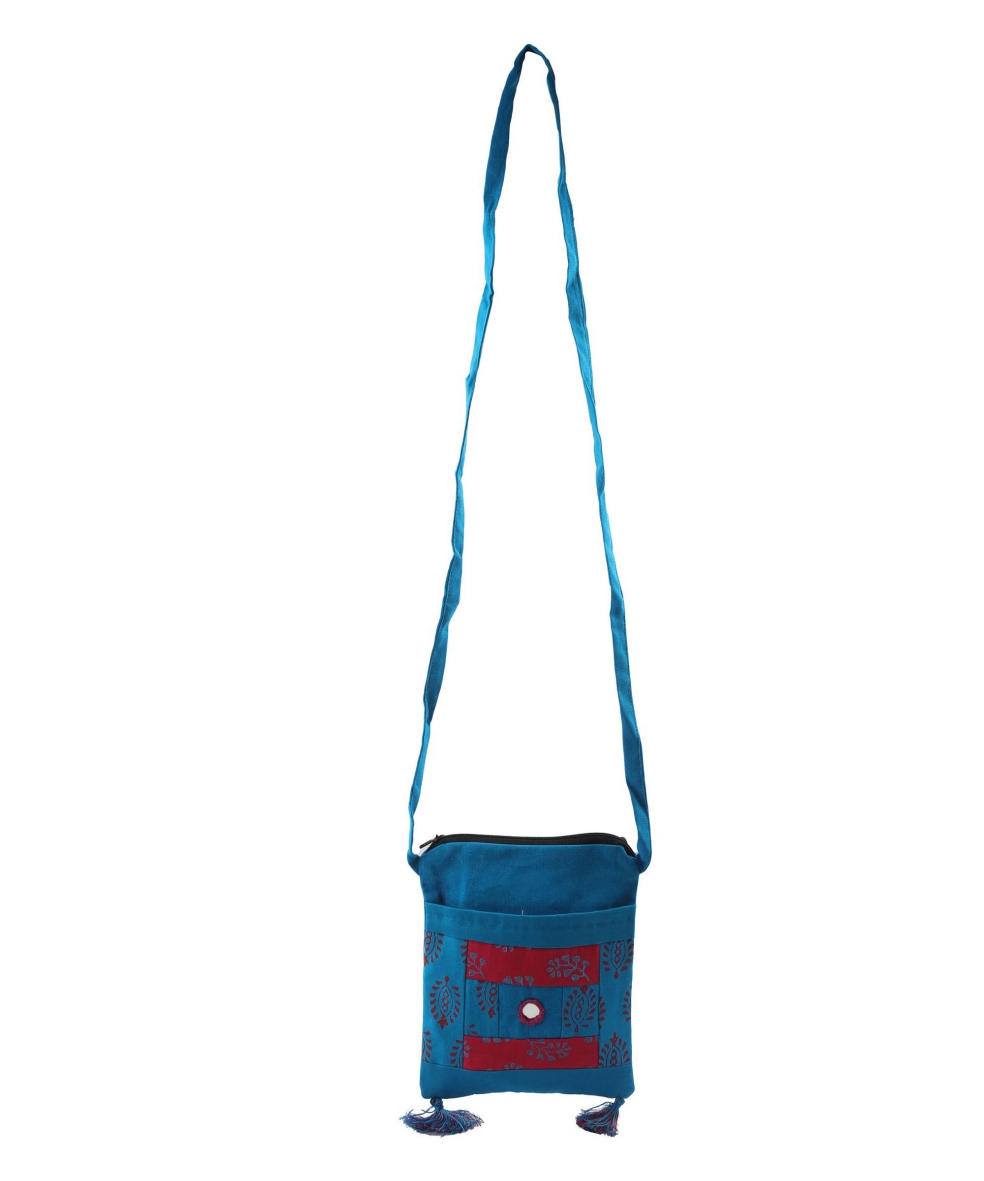 Women's Blue WIEA Sling Bag (Set of 2) Slider Thumbnail 2/5