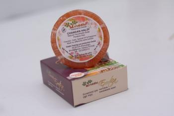 Natural Handmade Chandan Haldi Soap (Set of 5)