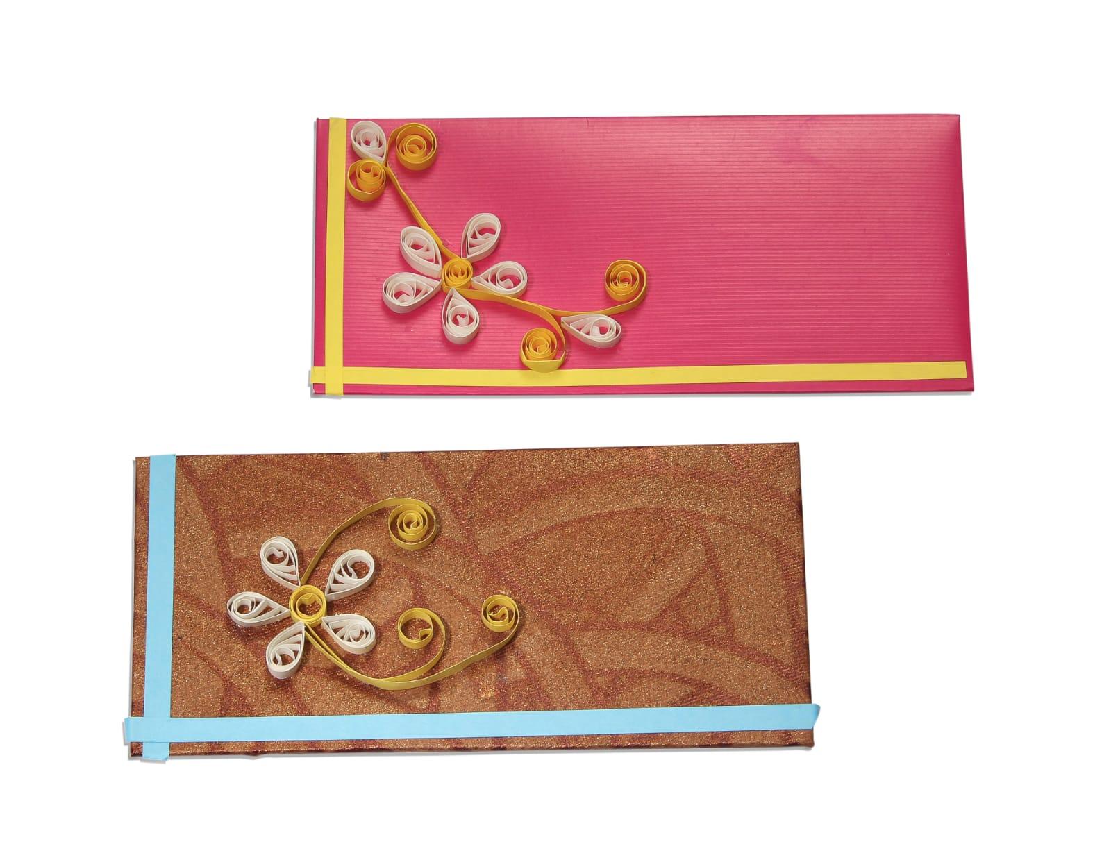 Assorted Quilling Gift Envelope (pack of 10) Slider Thumbnail 1/3