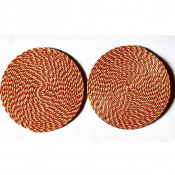 Red Cord Coasters (Set of 6)
