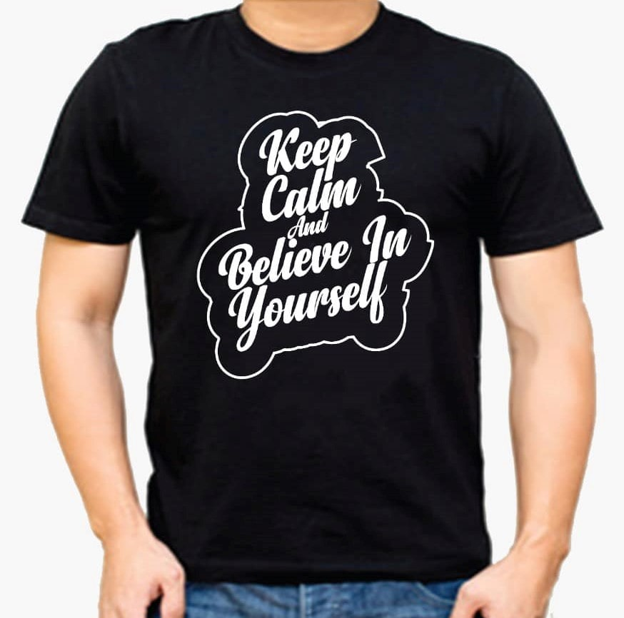 Keep calm and believe in yourself T-shirt for Men Slider Thumbnail 1/2