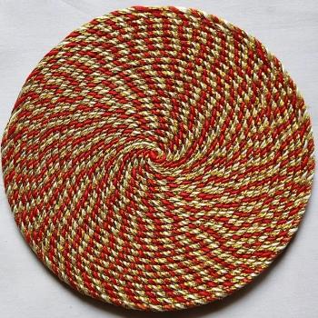Red Cord Coasters (Set of 6) Slider Thumbnail 3/3
