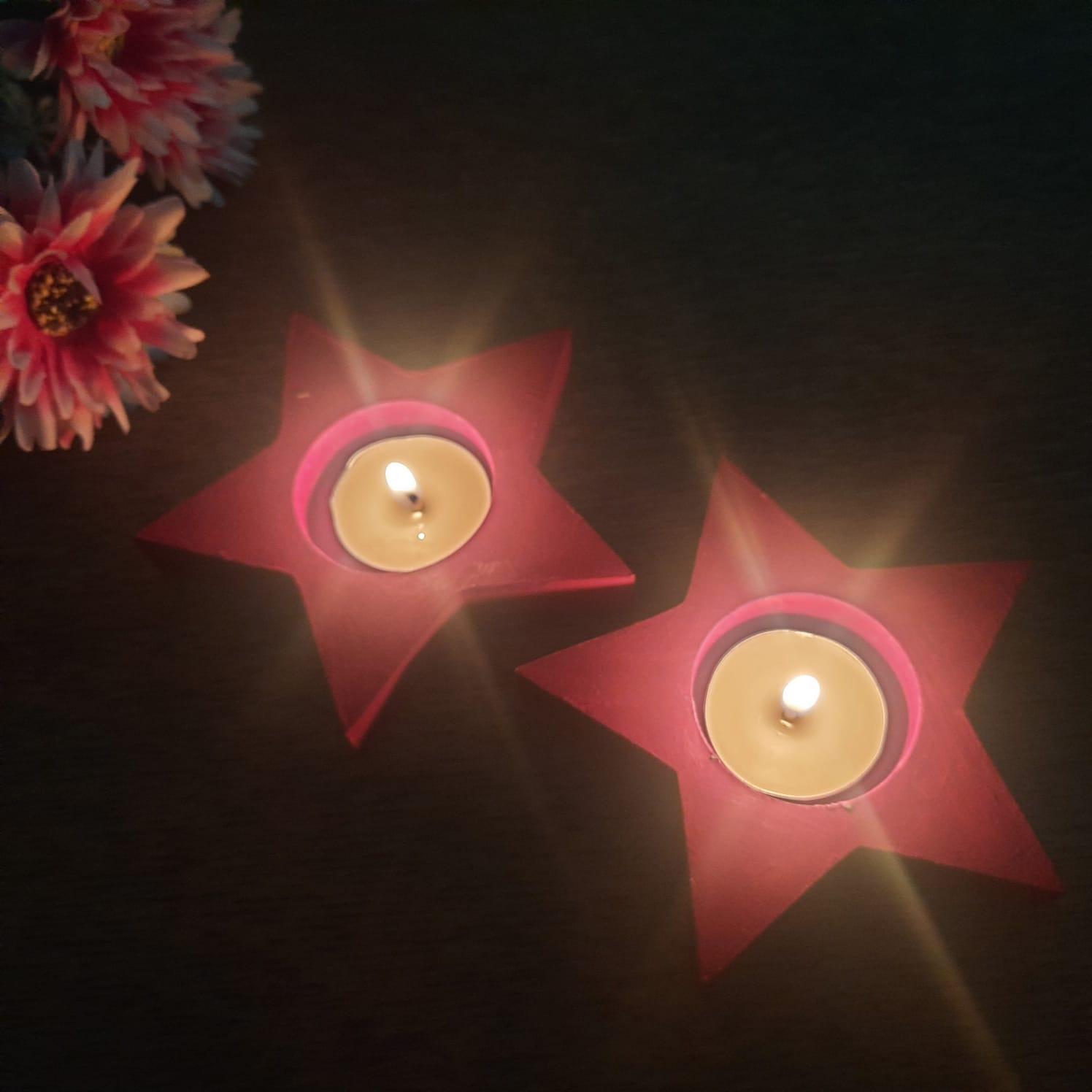 Diwali Hamper with Decoupage Tray, Tealights, Greeting Card, Chikkis Slider Thumbnail 4/4