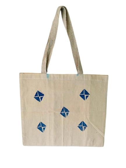 Kora Tote Bag with Blue Kites Slider Thumbnail 1/5
