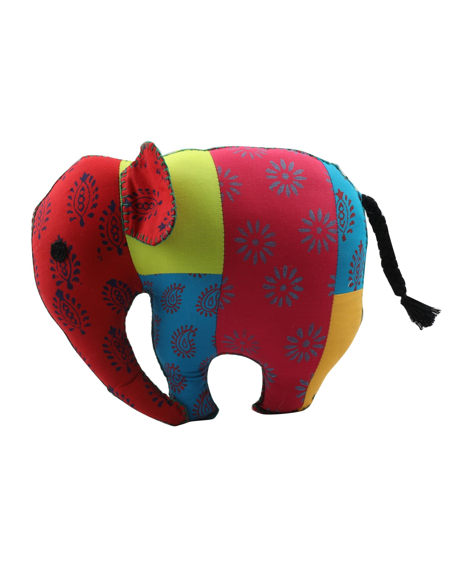 Elephant - Patchwork Soft Toy Slider 4/5