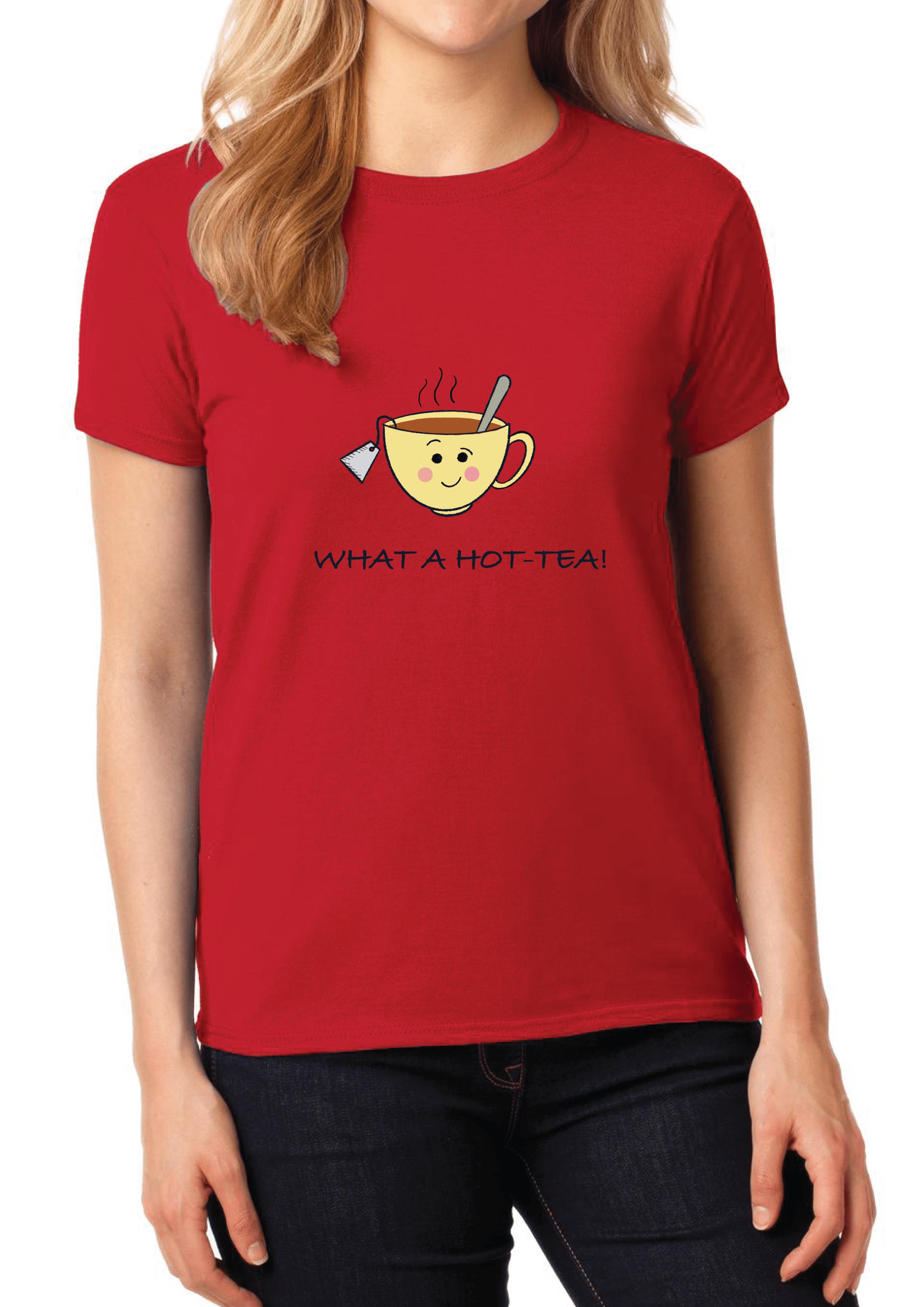 What a Hot- Tea Women's T-shirt Slider Thumbnail 3/4