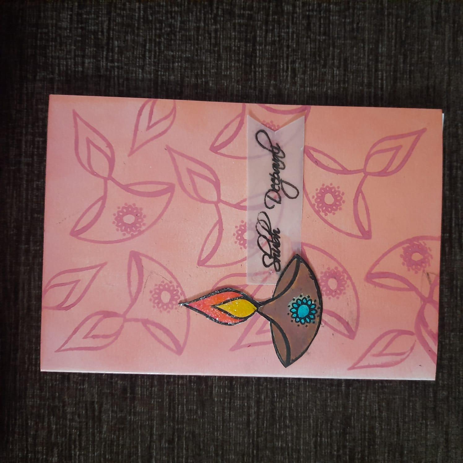 Diwali Hamper with Decoupage Tray, Tealights, Greeting Card, Chikkis Slider Thumbnail 3/4