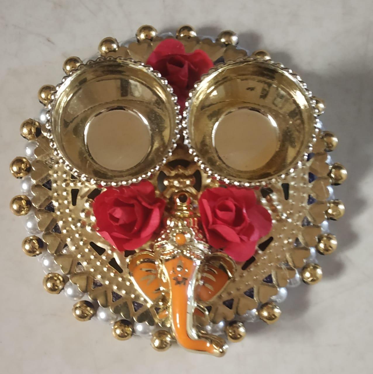Puja Kankavati with Lord Ganesha (Roli & Chawal Platter) Slider Thumbnail 1/2