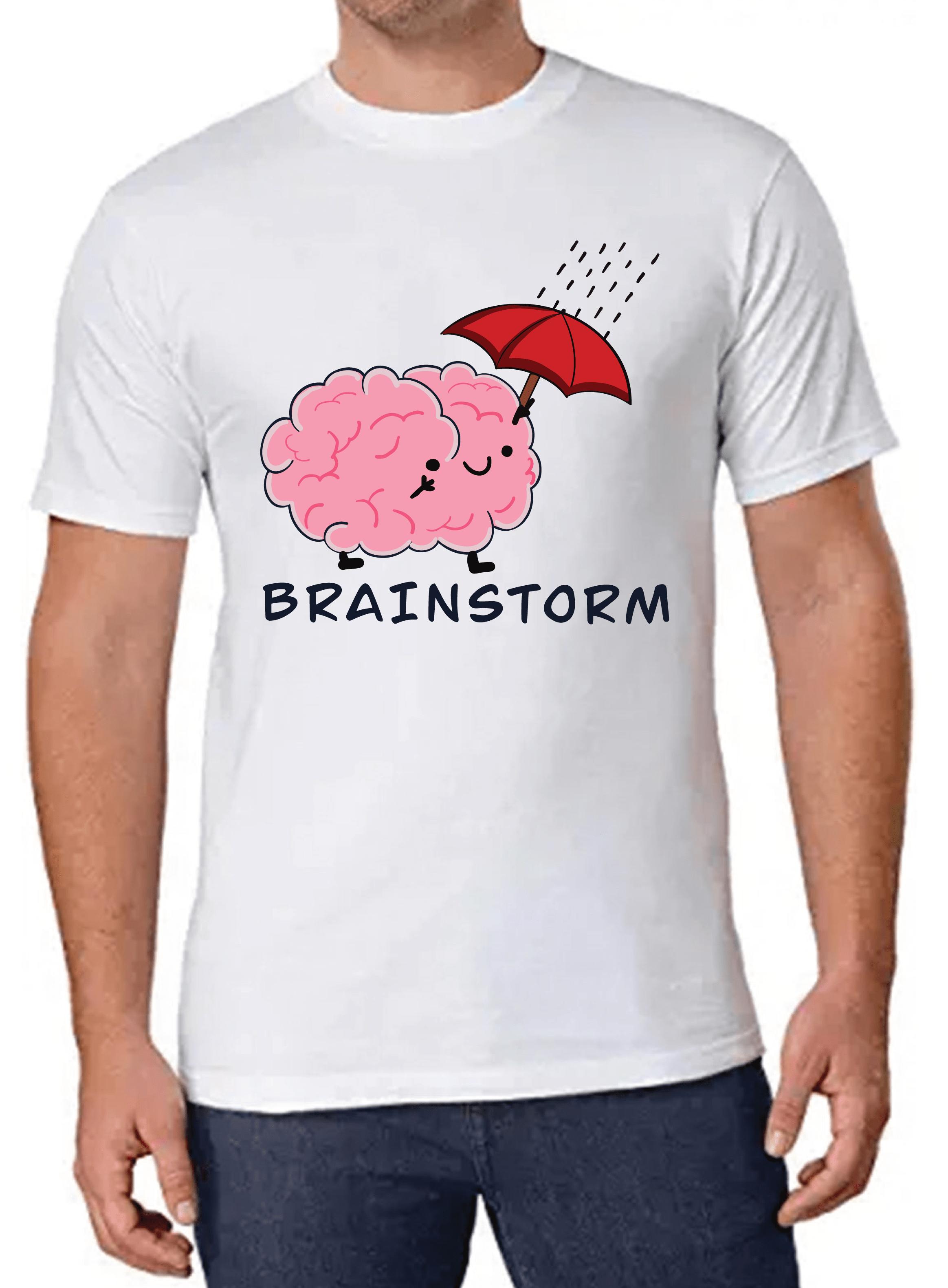 Brain Storm T-shirt for Men Slider Thumbnail 1/4