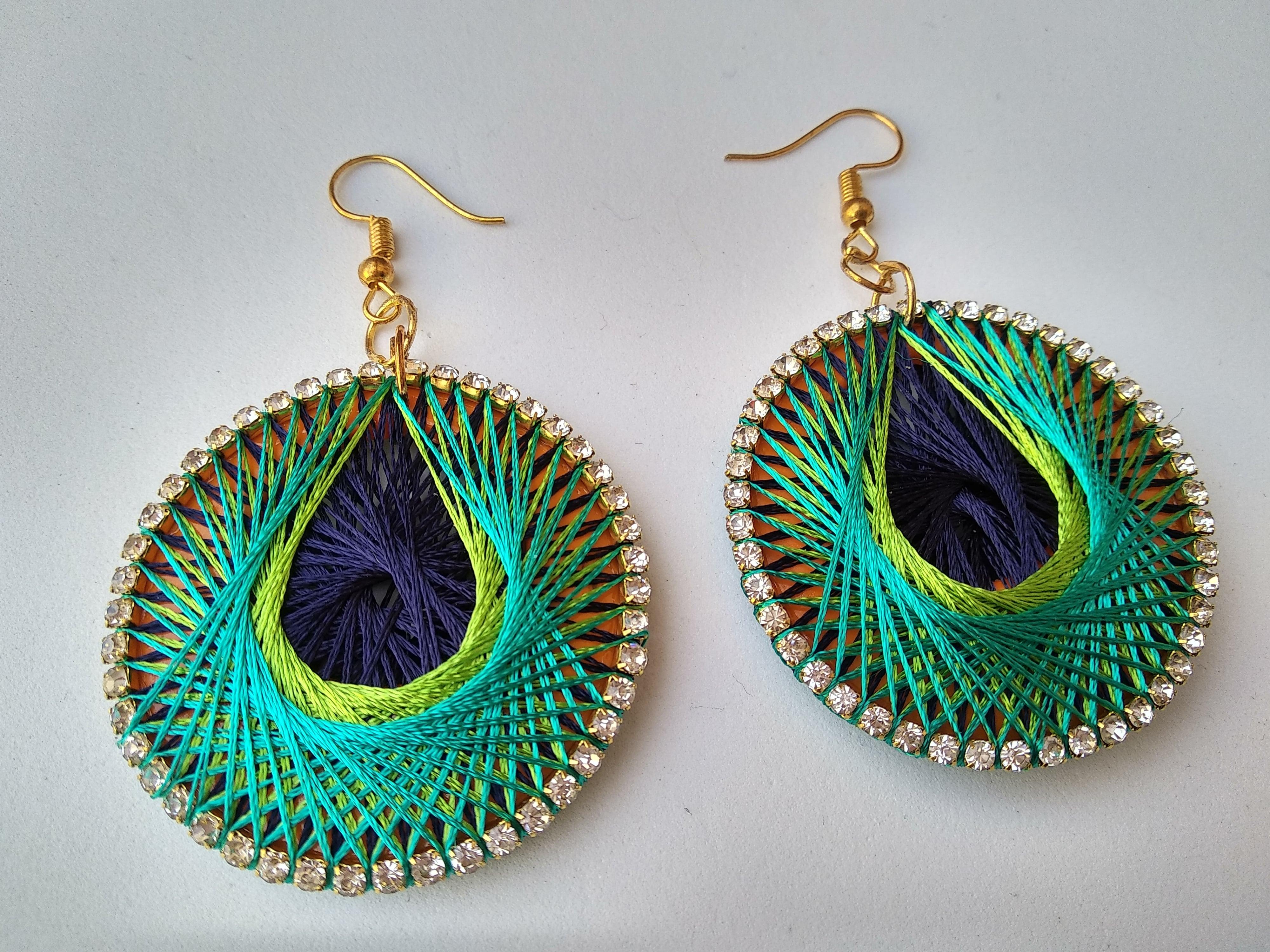 Women's Handmade Thread Earring Slider Thumbnail 4/6