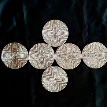 Silver Cord Coasters (Set of 6)