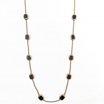 Neckpiece with Black/Golden Beads