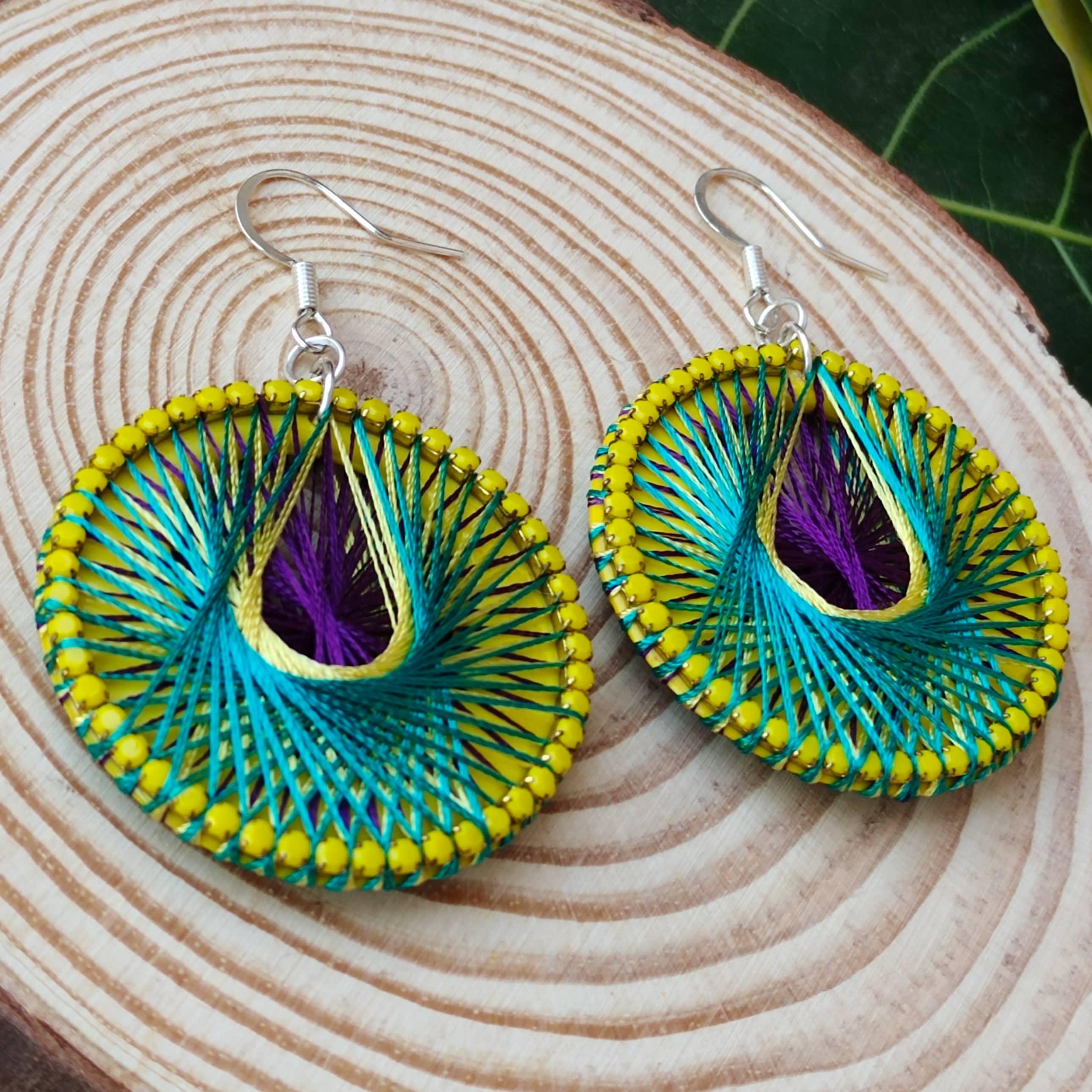 Women's Handmade Thread Earring Slider Thumbnail 2/6