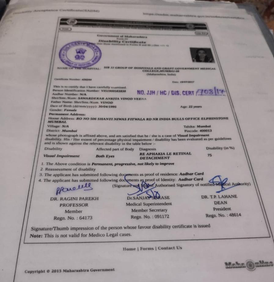 Ankita Vinod Sawardekar